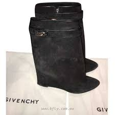 womens wedge boots australia givenchy shark lock mid calf boots australia 107283 black