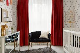 Red Curtains In Bedroom - black and white nursery with red curtains contemporary nursery