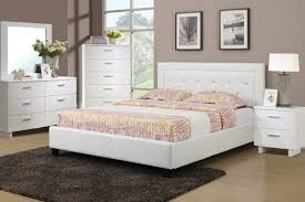 Showroom Quality Furniture At Warehouse Prices F Full Or Queen - White faux leather bedroom furniture