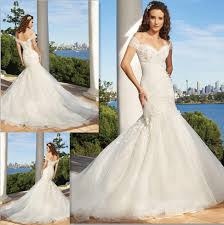 Off Shoulder Fishtail Wedding Dresses