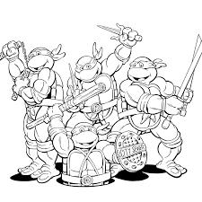 ninja turtle coloring pages book teenage mutant