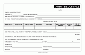 top 5 free samples of bill of sale templates word templates