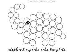 panda cake template elepahnt cupcake cake template 2 baby shower ideas