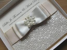 handmade wedding invitations luxury handmade wedding invitation pearls diamante satin with