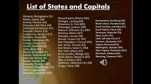 Usa Map With Capitals And States by List Of All The United States States Capitals Google Search Map