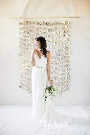 wedding backdrops diy diy branch slice backdrop ruffled