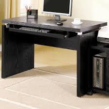 modern black computer desk coaster contemporary computer workstation office desk table black