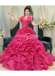 fuschia wedding dress gown sweetheart fuschia wedding dresses