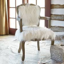 faux fur ooh la chair pbteen throughout white plans 1