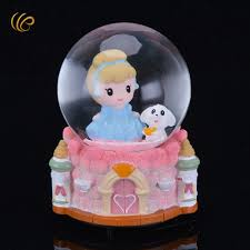 crystal ball music box cute christams gifts home decoration