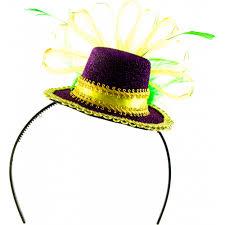 mardi gras headbands mini mardi gras hat headband 26018mgaj mardigrasoutlet