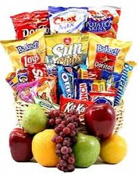 snack basket sendflowersphilippines classic snack gift basket with fruit