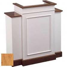Colonial Trim Church Furniture Pulpits 810 With Wing Pulpit Two Tone
