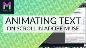 animating text on scroll in adobe muse adobe muse cc muse for