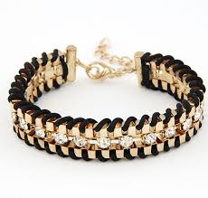women hand bracelet images Romantic rhinestone chain bracelet jewily jpg