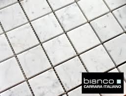 Marble Mosaic Tile Carrara Carrera Bianco Marble 2 X 2 Honed Mosaic Tile