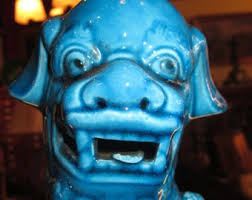 blue foo dogs turquoise foo dogs etsy