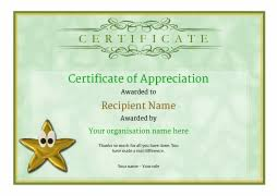certificate of appreciation and thank you free and simple to use