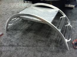 aluminum steps for upcoming boat show malibu boats general