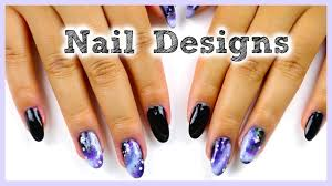 diy easy nail designs vintage roses galaxy u0026 more youtube