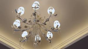 Elegant Crystal Chandelier Beautiful Crystal Chandelier On The Ceiling View Showcase Of