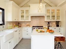 farmhouse kitchen sets white spray paint wooden island dark brown