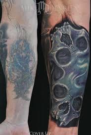 mike devries tattoos coverup skull tattoos