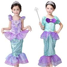 Mermaid Halloween Costume Toddler Aliexpress Buy Girls Mermaid Dresses Princess Fancy Clothes