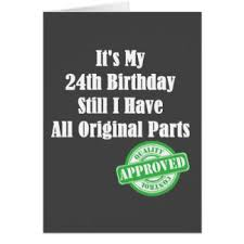 24th birthday cards invitations greeting photo cards