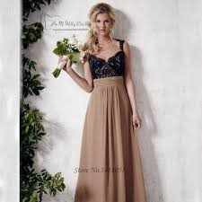 black lace brown bridesmaid dresses long party dress backless