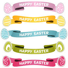 easter ribbon happy easter ribbons or banners set stock vector illustration of