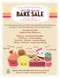 8th annual afc bake sale contest and auction