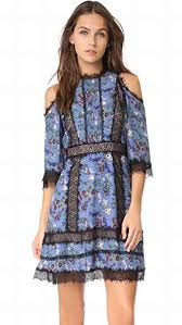 gatz cold shoulder dress garden party alice olivia cocktail