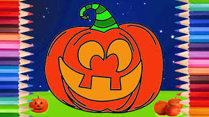 how to draw a jack o lantern pumpkin halloween coloring pages