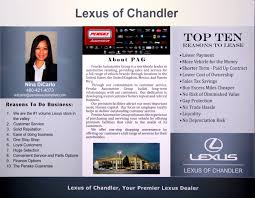 lexus dealership chandler customer handouts and marketing keith brewer consulting