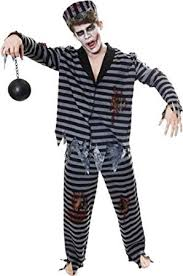 Halloween Costume Prisoner Zombie Prisoner Jail Convict Halloween Fancy Dress Costume