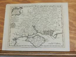 Hampshire England Map by Feb 1751 Antique Map County Hampshire England London Magazine