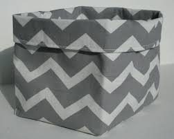mini crushable fabric home decor storage box in a grey and white