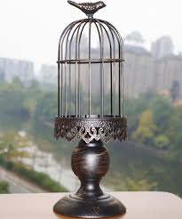 Bird Cage Decoration Hand Made Big Wrought Iron Vintage Birdcage Candleholder Moroccan