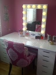 makeup vanity table with lighted mirror ikea lighted vanity mirror ikea home design ideas