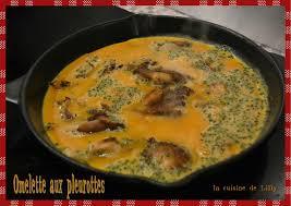 cuisiner les pleurottes omelette aux pleurotes la cuisine de lilly