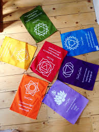 Prayer Flags Large Affirmation Chakra Flags Inner Peace Gifts
