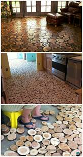 log floor diy flooring ideas projects with low costs