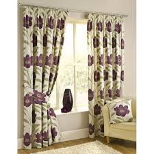 Purple Floral Curtains Buy Purple Lou Curtains Buy Pencil Pleat Curtains From Pcjsupplies