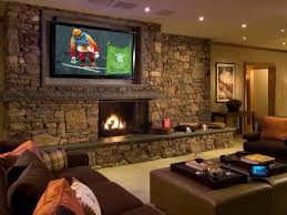 living living room ideas brown sofa modern media wall color with