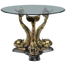 dolphin table with glass top dolphin table regency dolphin center or dining table base circa for