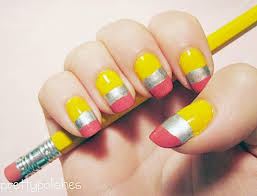 10 cute back to nail designs