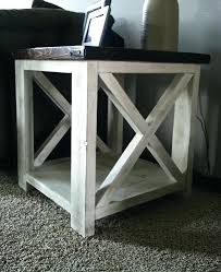 distressed wood end table white wood end table artcercedilla com