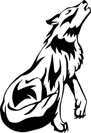 howling wolf tribal many cliparts