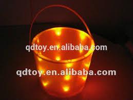 kid personalized light up halloween bucket with handle wholesale